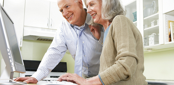 Older Couple and Computer